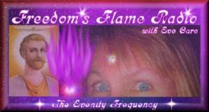 Freedom's Flame Radio with Eve Care, banner