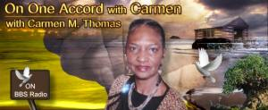 On One Accord with Carmen with Carmen Thomas Mitchell, banner
