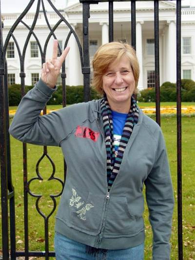 Cindy Sheehan at the Whitehouse
