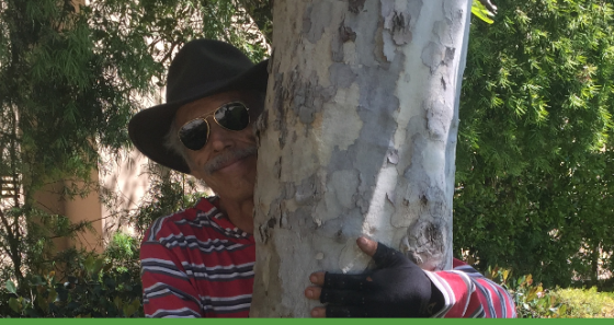 andy is a tree hugger
