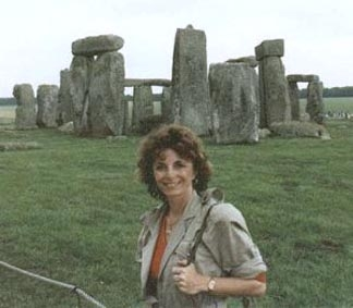 Investigative reporter, producer, documentary filmmaker, editor and author Linda Moulton Howe at Stonehenge, England.