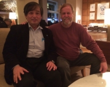 Dr Nemoto and James Gilliland in Tokyo