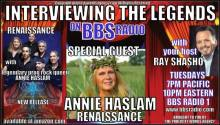 Annie Haslam the Enchanting Voice of Renaissance on Interviewing the Legends