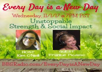 Every Day is a New Day with Kim O'Neill - 11/1/17 7PM PST, Guest Frankie Picasso