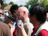 Senator Larry Campbell (center, white hair)