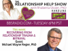 image:  Dr. Shaler talks with Dr Michael Wayne Regier about trauma and betrayal