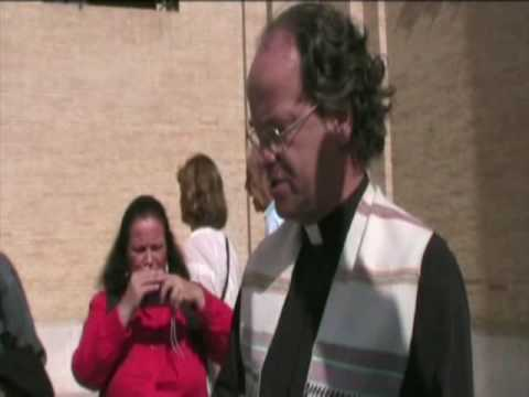 Kevin Annett conducts an exorcism at the Vatican,  two days before Pope Benedict is first publicly exposed for crimes October 11, 2009