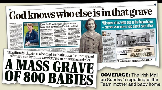 God Knows who else is in that Grave. A Mass Grave of 800 Babies