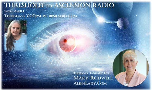 Mary Rodwell on Threshold to Ascension Radio