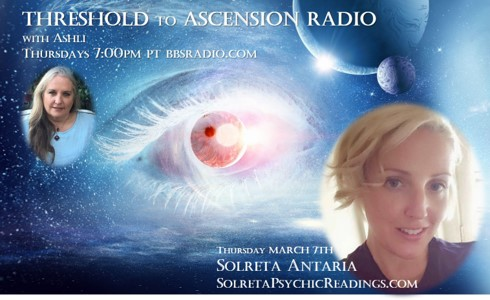 Solreta Antaria ET Communicator on Threshold to Ascension Radio